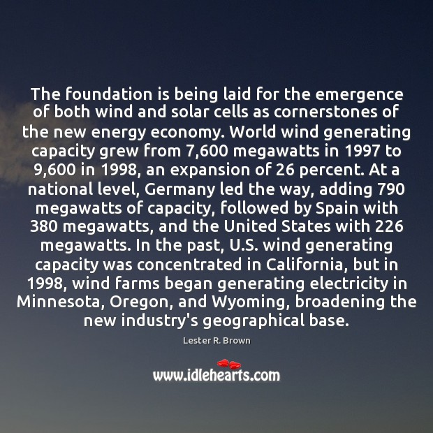 Image, The foundation is being laid for the emergence of both wind and