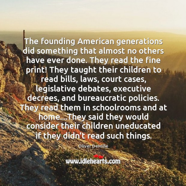 Image, The founding American generations did something that almost no others have ever