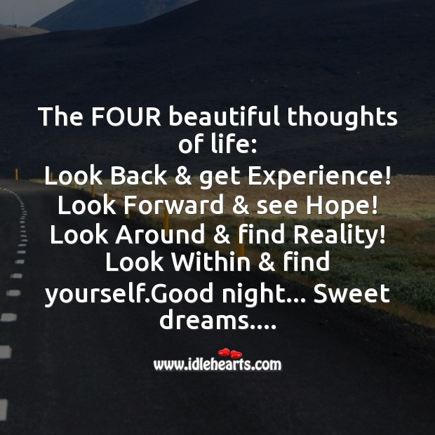 Image, The four beautiful thoughts of life
