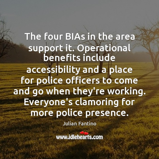Image, The four BIAs in the area support it. Operational benefits include accessibility