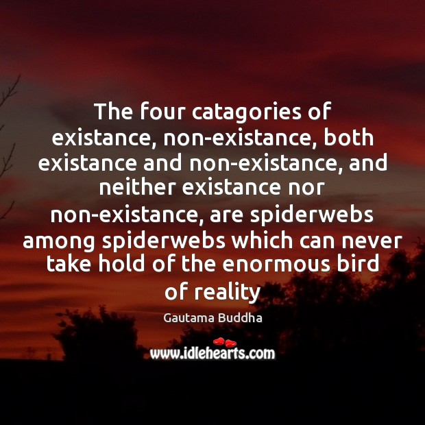 The four catagories of existance, non-existance, both existance and non-existance, and neither Image