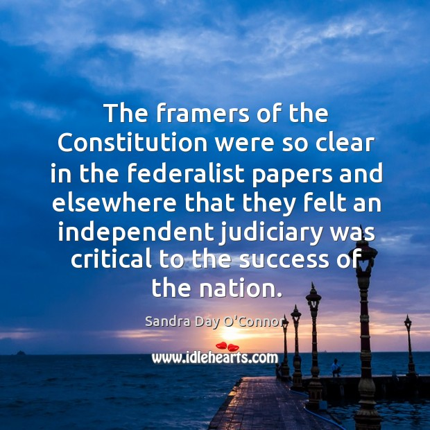 The framers of the constitution were so clear in the federalist papers and elsewhere that Image