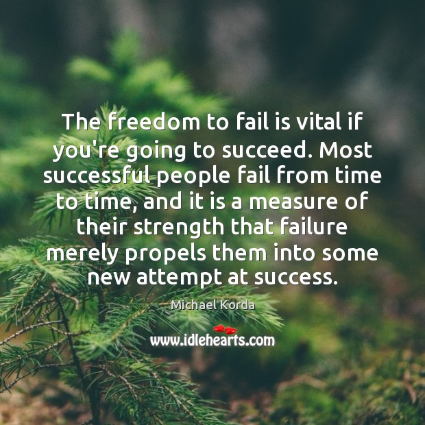 The freedom to fail is vital if you're going to succeed. Most Image