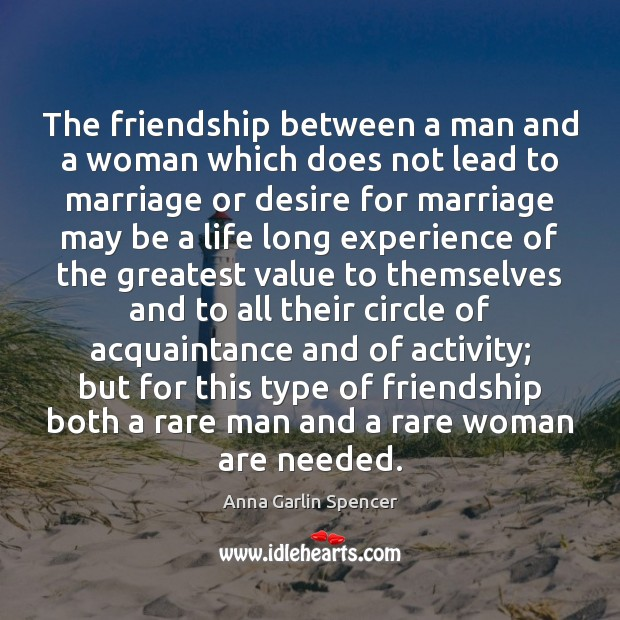 The friendship between a man and a woman which does not lead Image