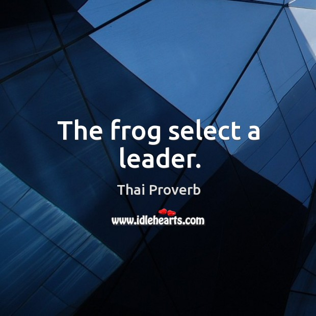The frog select a leader. Thai Proverbs Image