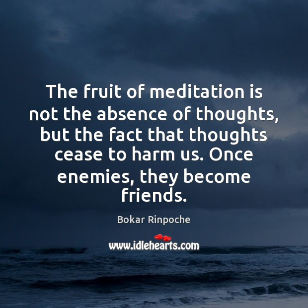 Image, The fruit of meditation is not the absence of thoughts, but the
