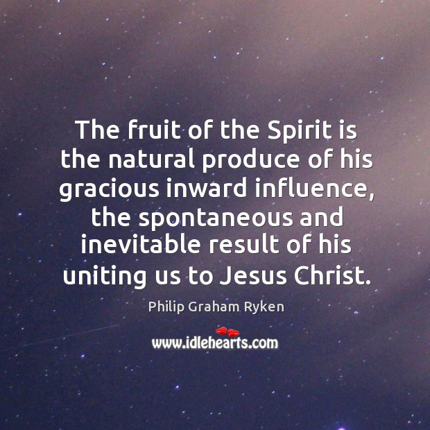 The fruit of the Spirit is the natural produce of his gracious Image