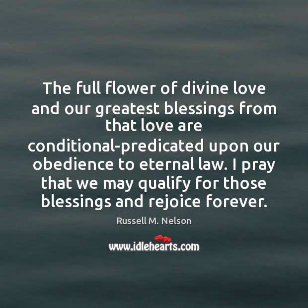 The full flower of divine love and our greatest blessings from that Image
