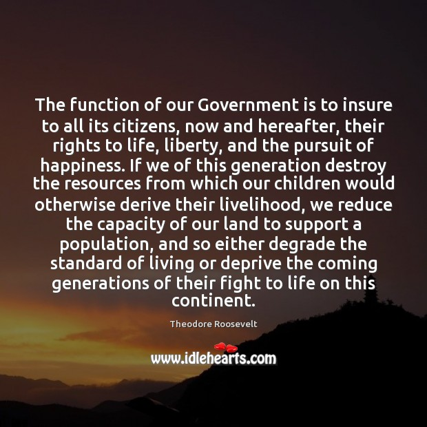 Image, The function of our Government is to insure to all its citizens,