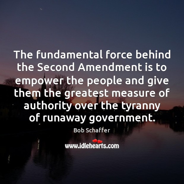 Image, The fundamental force behind the Second Amendment is to empower the people
