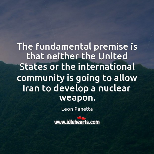 Image, The fundamental premise is that neither the United States or the international