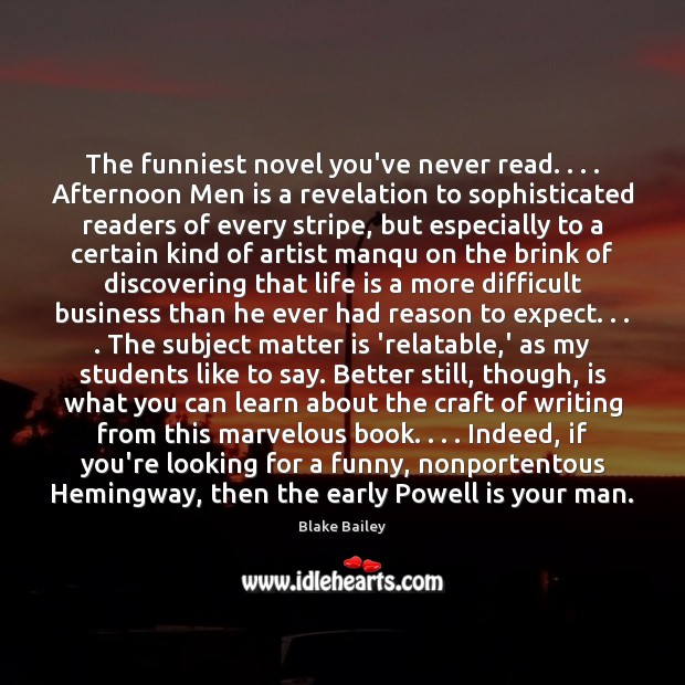 Image, The funniest novel you've never read. . . . Afternoon Men is a revelation to