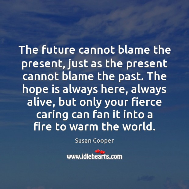 The future cannot blame the present, just as the present cannot blame Image