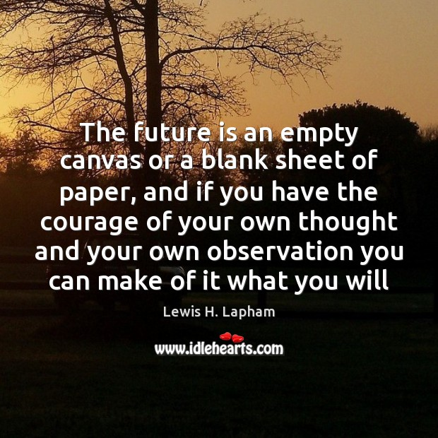 Image, The future is an empty canvas or a blank sheet of paper,