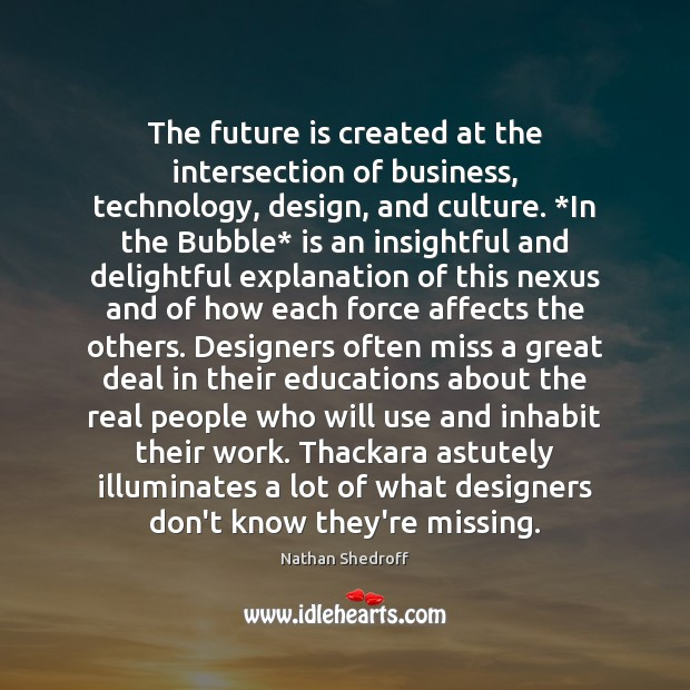 The future is created at the intersection of business, technology, design, and Image