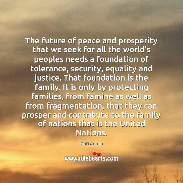 The future of peace and prosperity that we seek for all the Image