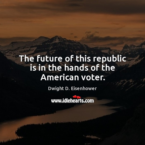 Image, The future of this republic is in the hands of the American voter.