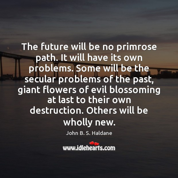 The future will be no primrose path. It will have its own Image