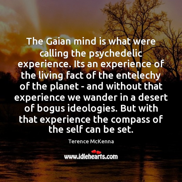 Image, The Gaian mind is what were calling the psychedelic experience. Its an
