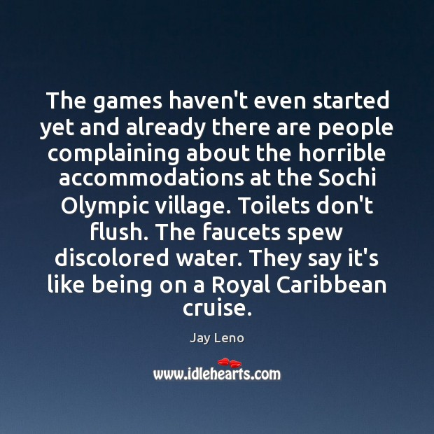 Image, The games haven't even started yet and already there are people complaining