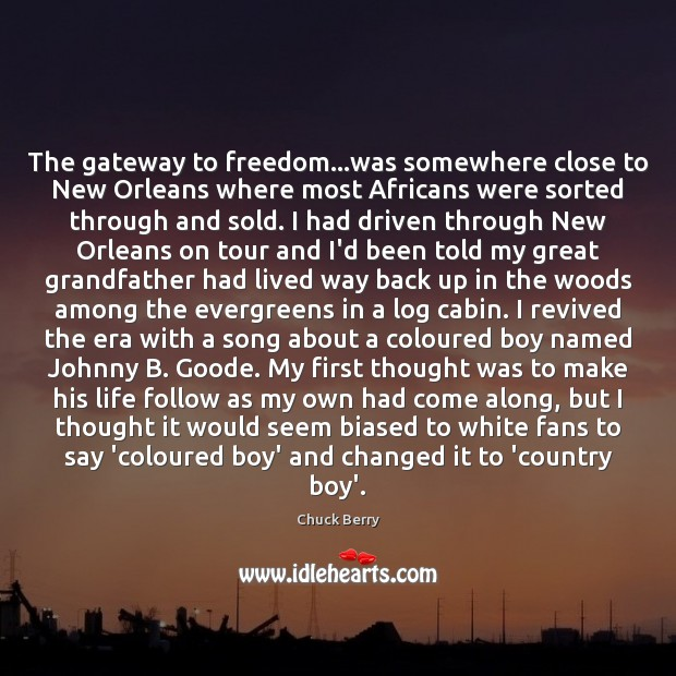 The gateway to freedom…was somewhere close to New Orleans where most Image