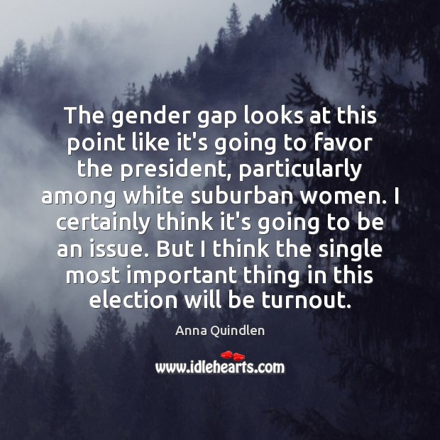 Image, The gender gap looks at this point like it's going to favor