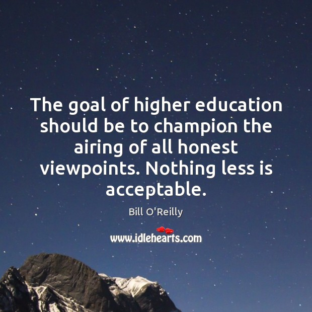 goals of higher education