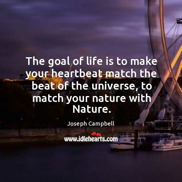 The goal of life. Image