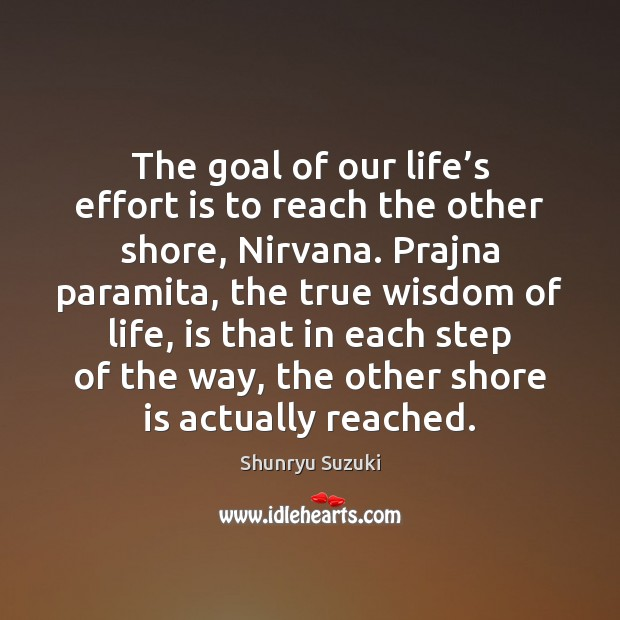 Image, The goal of our life's effort is to reach the other
