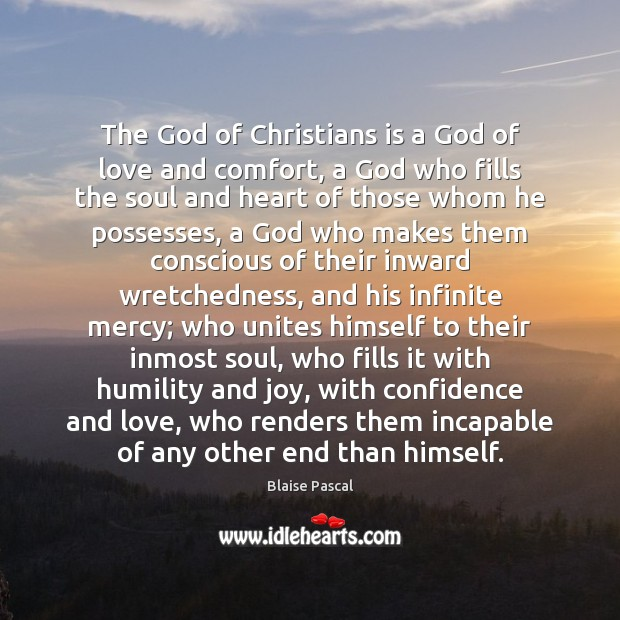 Image, The God of Christians is a God of love and comfort, a