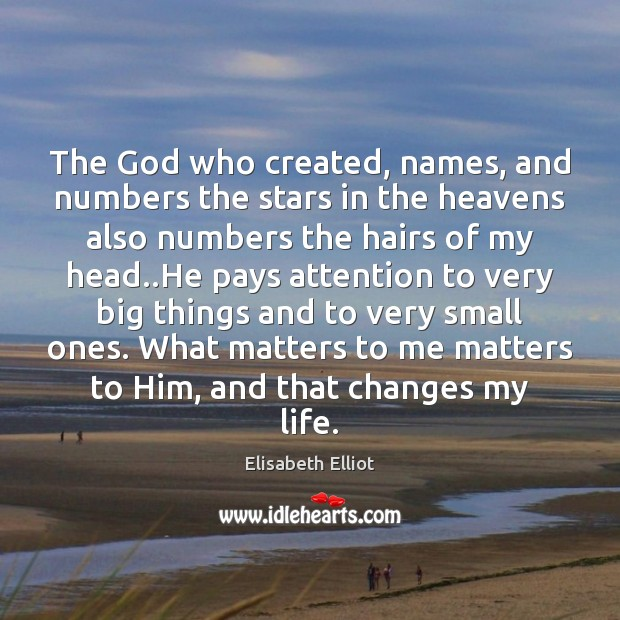 The God who created, names, and numbers the stars in the heavens Image