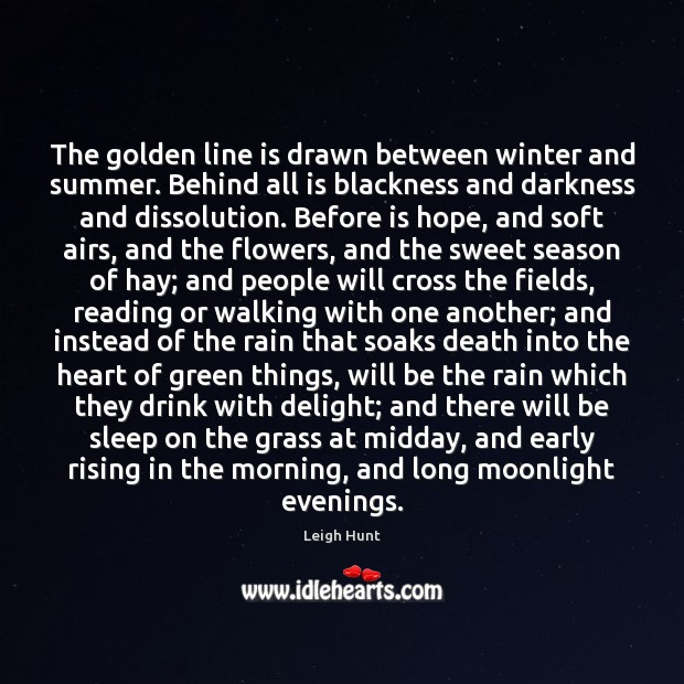 The golden line is drawn between winter and summer. Behind all is Image