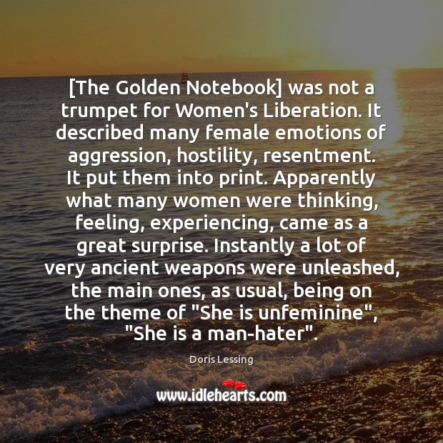 Image, [The Golden Notebook] was not a trumpet for Women's Liberation. It described