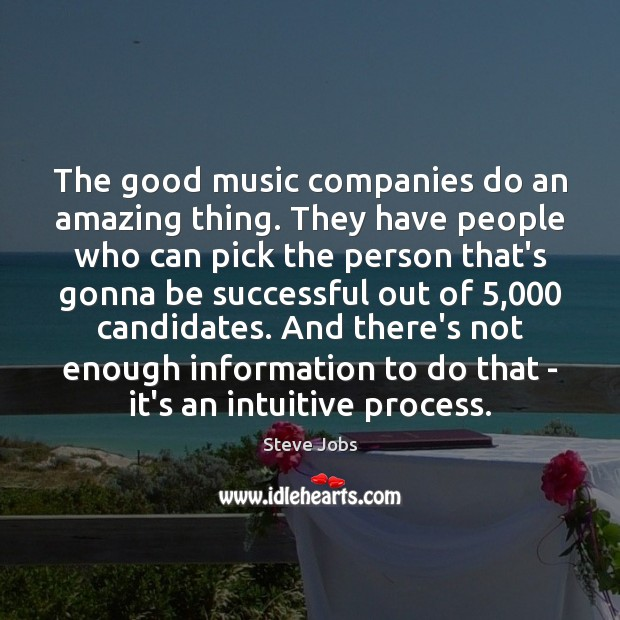 Image, The good music companies do an amazing thing. They have people who