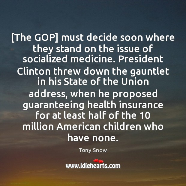 Image, [The GOP] must decide soon where they stand on the issue of