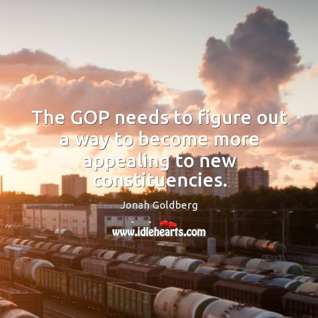 The GOP needs to figure out a way to become more appealing to new constituencies. Image