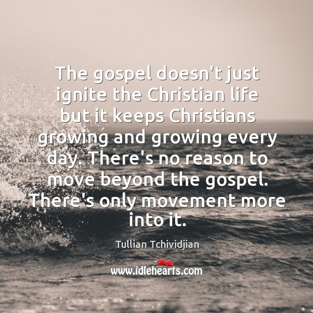 The gospel doesn't just ignite the Christian life but it keeps Christians Image