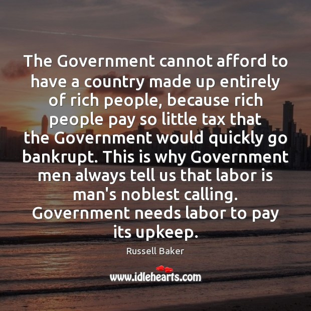 Image, The Government cannot afford to have a country made up entirely of