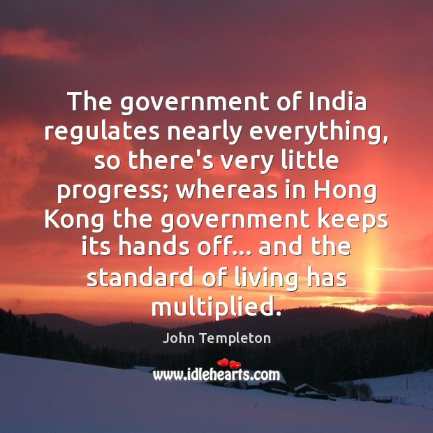 Image, The government of India regulates nearly everything, so there's very little progress;