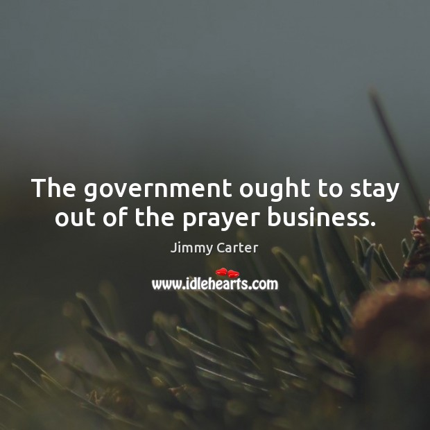 Image, The government ought to stay out of the prayer business.