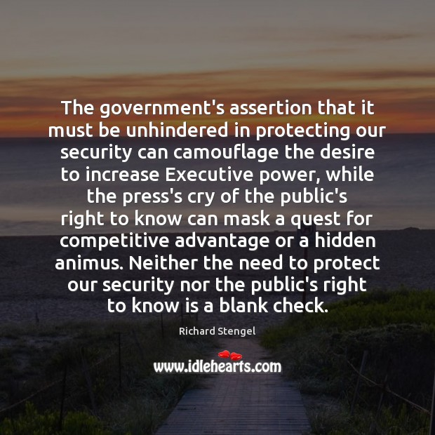 Image, The government's assertion that it must be unhindered in protecting our security
