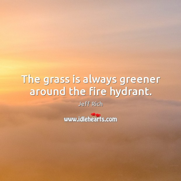 The grass is always greener around the fire hydrant. Image