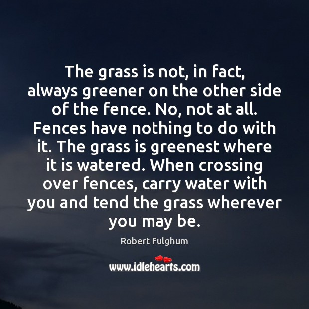 Image, The grass is not, in fact, always greener on the other side