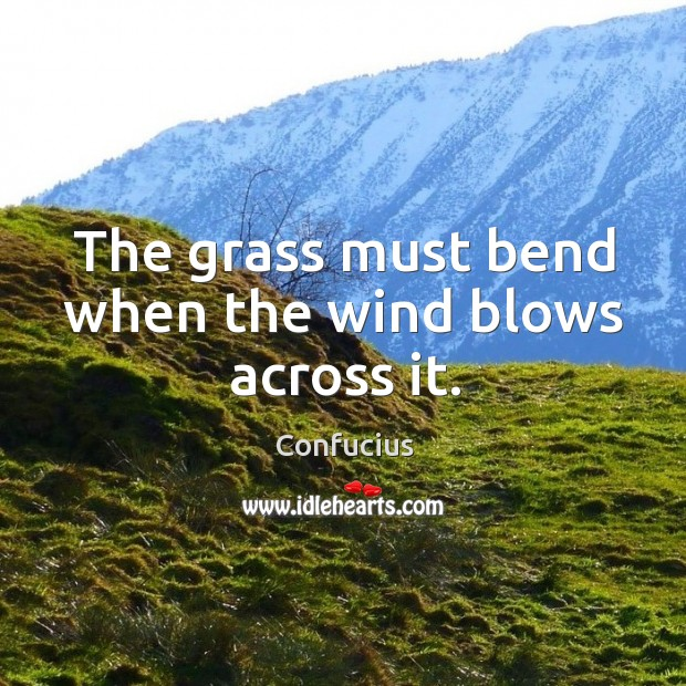 Image, The grass must bend when the wind blows across it.