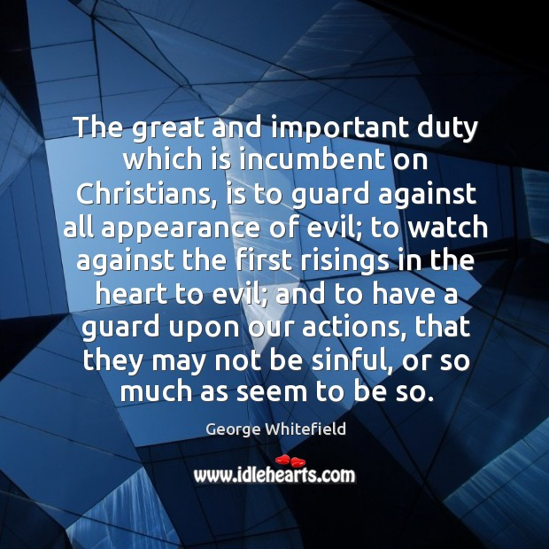 The great and important duty which is incumbent on christians Image