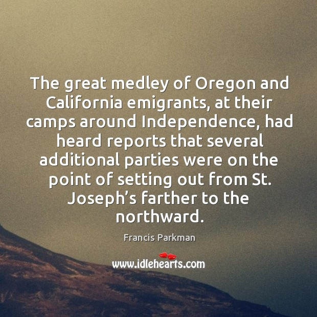 Image, The great medley of oregon and california emigrants