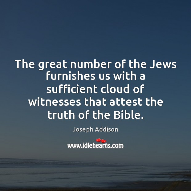 Image, The great number of the Jews furnishes us with a sufficient cloud