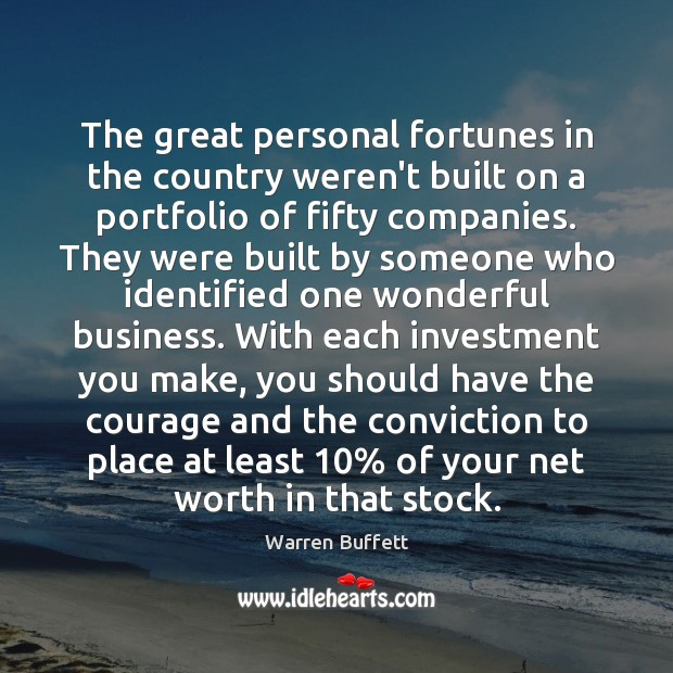 Image, The great personal fortunes in the country weren't built on a portfolio