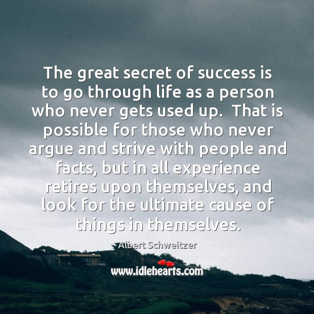 The great secret of success is to go through life as a Image