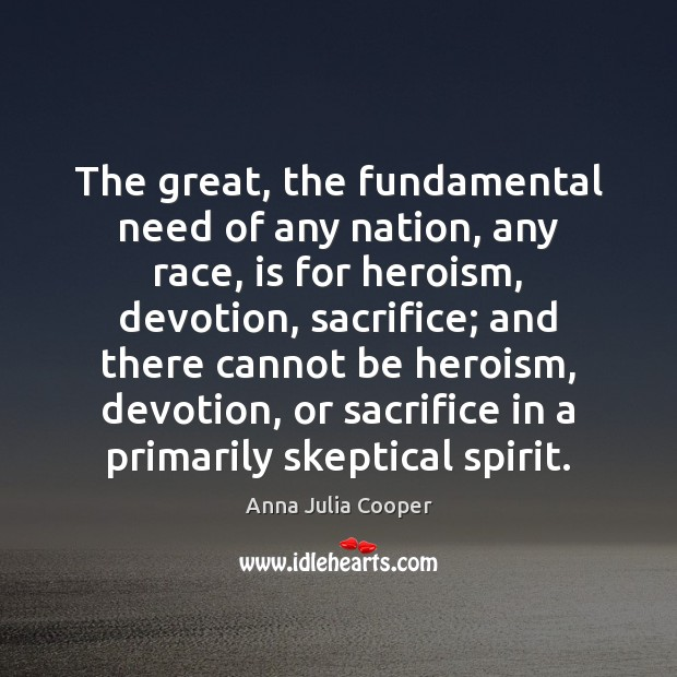 Image, The great, the fundamental need of any nation, any race, is for